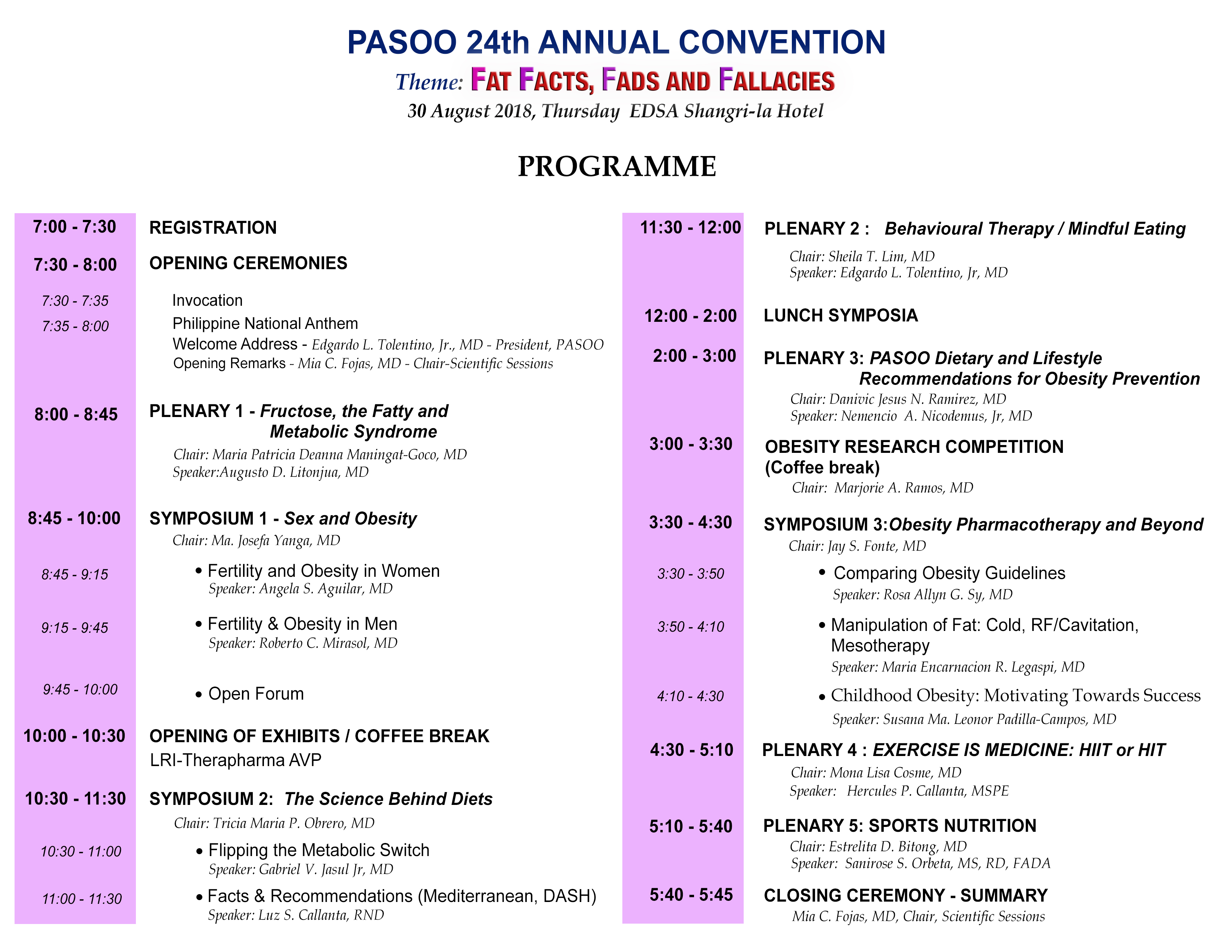 Convention Programme